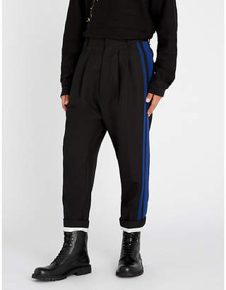 Haider Ackermann Calder striped-side regular-fit wool trousers