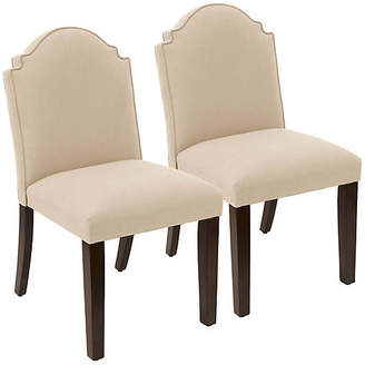 One Kings Lane Set of 2 Elloree Side Chairs - Sand Linen