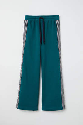 H&M Sweatpants with Side Stripes - Green