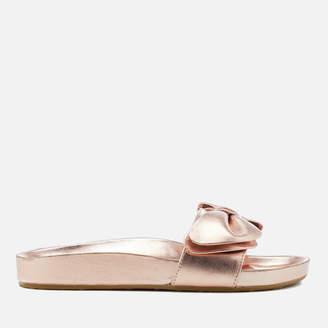 Dune Women's Fenela Leather Slide Sandals