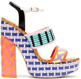 Sophia Webster Celia Platform Block Heeled Sandals - Womens - Multi