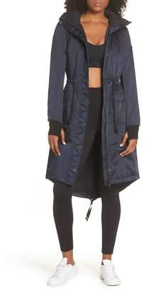 Blanc Noir Locust Water Resistant Hooded Anorak with Faux Fur Trim