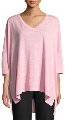 Eileen Fisher Dolman-Sleeve Boxy Organic Linen Tunic