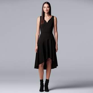 Vera Wang Women's Simply Vera Asymmetrical Hem Ponte Dress