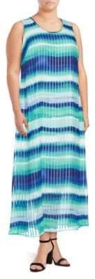 Calvin Klein Plus Size Colorblock Maxi Dress