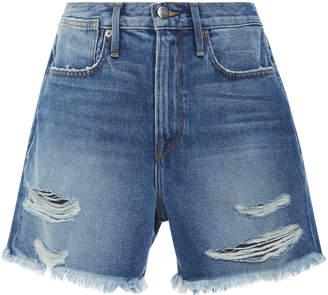 Frame Le Stevie High-Rise Denim Shorts