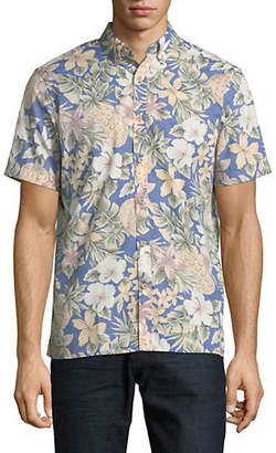 Black Brown 1826 Short Sleeve Floral Print Shirt
