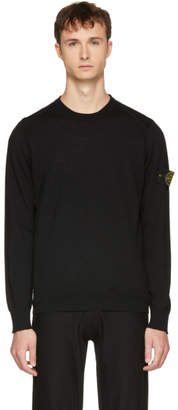 Stone Island Black Arm Badge Logo Sweater