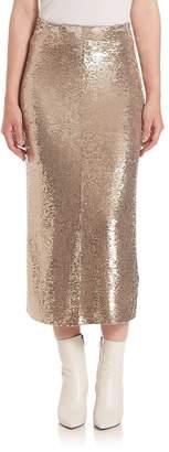 IRO Women's Bump Sequin Midi Skirt