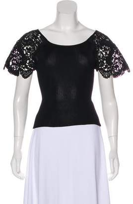 Christian Lacroix Embroidered Short Sleeve Top