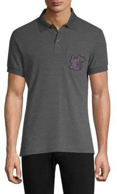 Versace Embroidered Crest Polo Shirt