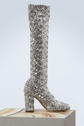 Dolce & Gabbana Sequined boots