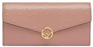 Fendi F Continental chain wallet