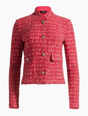 St. John Inlay Boucle Stripe Knit Jacket