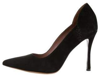 Tabitha Simmons Suede Pointed Pumps