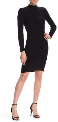 Splendid Sylvie Ribbed Colorblock Mock Neck Dress