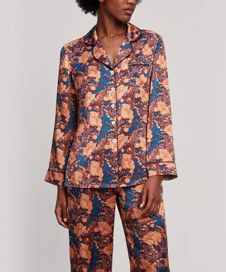 Liberty London Florence June Silk Satin Long Pyjama Set