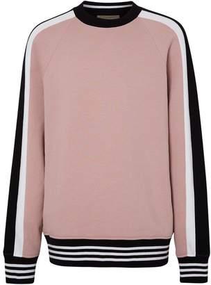 84253aa4472e Burberry Stripe Detail Cotton Jersey Sweatshirt