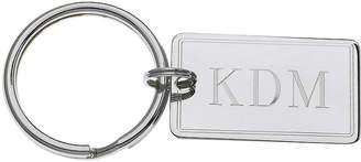 Asstd National Brand Personalized Rectangular Key Ring with Double-Line Border