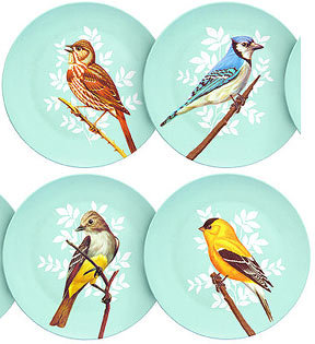 Pop Ink Bird Feed Melamine Plate Set