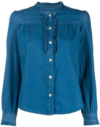 A.P.C. long-sleeve denim blouse