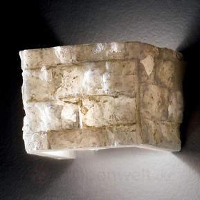 Stimmungsvolle Wandlampe Carrara aus Alabaster
