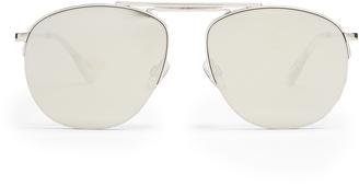Le Specs Liberation mirrored aviator sunglasses