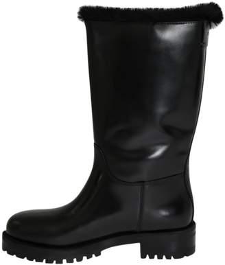 Dolce & Gabbana Black Rubber Boots