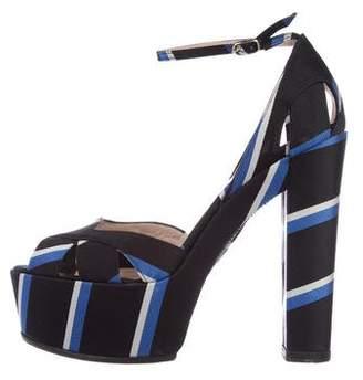 Bruno Frisoni Grosgrain Platform Sandals