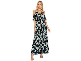 Calvin Klein Gathered Sleeve Off Shoulder Dress Women's Dress