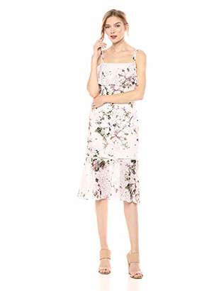 Rachel Roy Women's Tiered Printed Lace Midi Dress