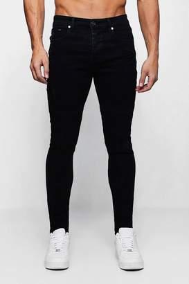 boohoo Super Skinny Panelled Biker Jeans