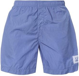 C.P. Company logo patch swimming shorts