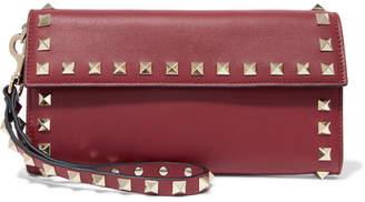 Valentino Garavani The Rockstud Leather Wallet - Burgundy