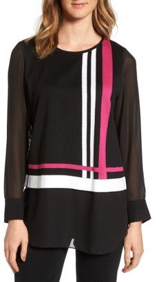 Women's Ming Wang Layered Look Tunic $110 thestylecure.com