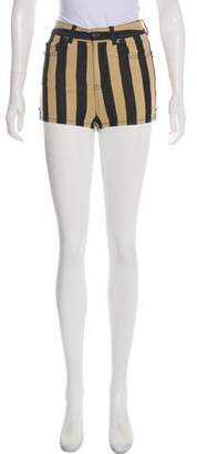 Thomas Wylde Striped Mini Shorts