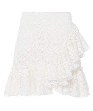 Giambattista Valli Ruffle Cotton Blend Mini Skirt