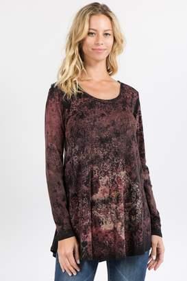 42b14cbc69 at Shoptiques · M. Rena Crimson Floral Tunic