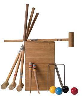 Teak Croquet Set