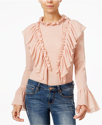 endless rose Ruffled Bell-Sleeve Top $69 thestylecure.com