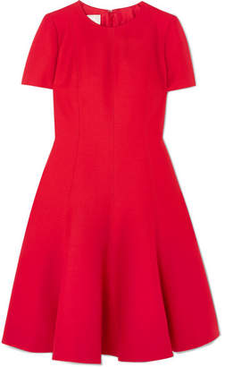 Valentino Wool And Silk-blend Dress - Red