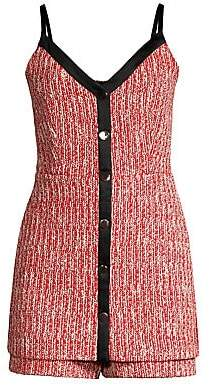 Maje Women's Rever Tweed Sleeveless Mini Dress