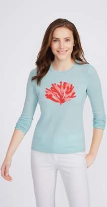 J.Mclaughlin Shield Cashmere Sweater in Coral Reef