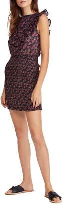 Free People Floral-Print Sleeveless Cotton Sheath Dress