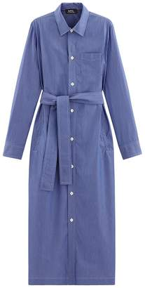 A.P.C. Millie Dress in Bleu Fonce