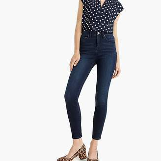 "J.Crew Tall 10"" highest-rise toothpick jean in deep sea wash with TencelTM"