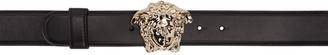 Versace Black Leather Medusa Belt $475 thestylecure.com