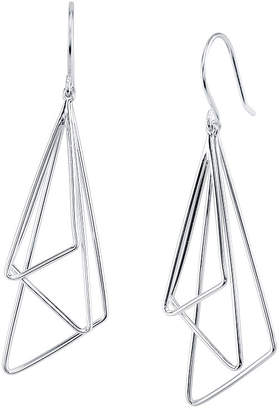 Unwritten Triple Triangle Drop Earring in Sterling Silver