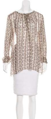 L'Agence Silk Semi-Sheer Top