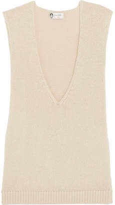 Lanvin - Yak And Wool-blend Tank - Ivory $610 thestylecure.com